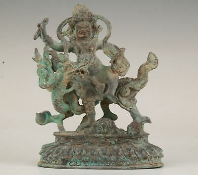 Sacred Indian Bronze Statue Old God Dragon Mascot Spiritual Collection