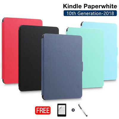 Amazon Kindle Paperwhite 10th 2018 Ultra Slim Smart Leather Flip Case Cover