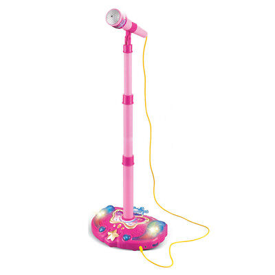 Kids Karaoke Machine With Microphones Adjustable Stand Music Play Toys Set