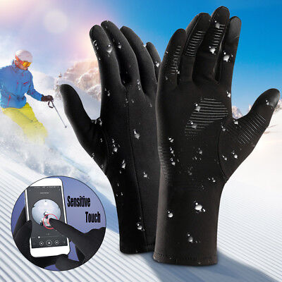 Winter Windproof Waterproof Full Finger Thermal Touch Screen Gloves Ladies Mens