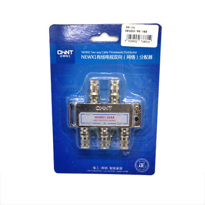 4-Way TV Coaxial Satellite Cable Splitter for Media Freesat Openbox NEWX1-204