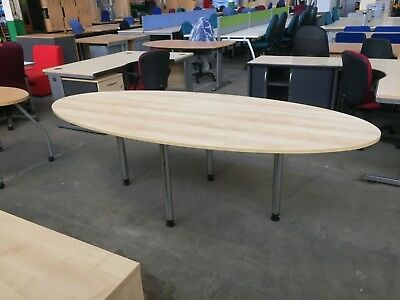 Budget Maple Boardroom Table, Meeting, Conference, Office, Couple Of Minor Marks
