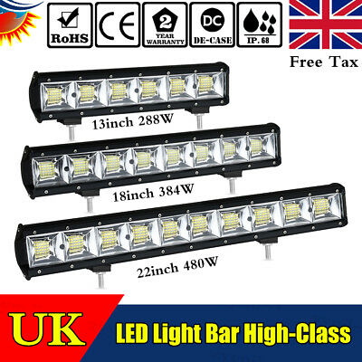 13/18/22 inch LED Work Light Bar for Car Off road Truck Driving Lamp Car Boat