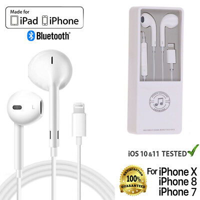 For Apple iPhone X XR XS 7 8 Plus 8Pin Bluetooth Earphones Headphones Headset