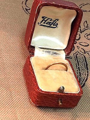 Antique Edwardian Wedding Ring W/ Original Box 10K Gold Sz 4