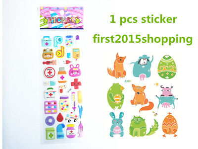 NEW 1 PCS Cartoon Stickers Doll Craft Bear Kid Party Scarpbooking Toy Stick Gift