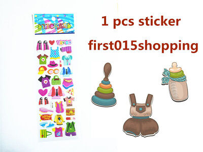 1PCS cartoon clothing pattern Scrapbooking Paper Crafts Stickers kids gifts