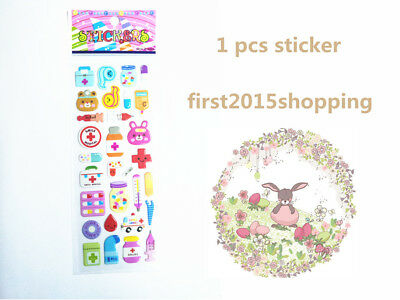 1pcs cartoon pattern Scrapbooking funny sticker lot handmade kid party gift
