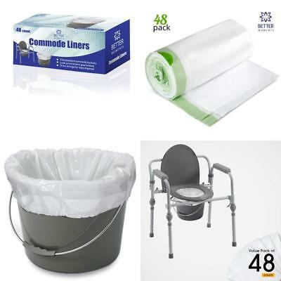 Commode Liners By Better Moments – Leak Proof Sanitary Bedside Commode Liner