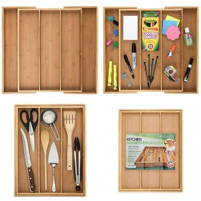 Bamboo Expandable Drawer Organizer, Premium Cutlery And Utensil Tray, Perfect Fo
