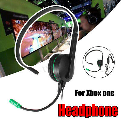 3.5mm Wired Chat Game One Side Headset Headphones + Microphone For Xbox ONE PS4