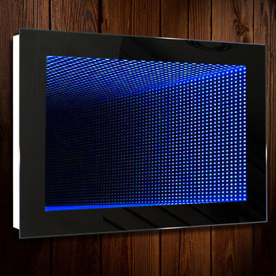 Electric Reflection LED Bathroom Infinity Mirror IP44 with Blue/White Lights UK