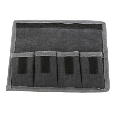 DSLR Battery Case Holder Pouch Storage Bag ( 4 Pocket ) for AA/AAA Battery