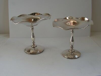 Antique Pair Of Solid Silver Bon Bon Dishes Comport Tazza Napper & Davenport