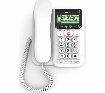 BT Décor 2600 Corded Phone with Answering Machine - Currys