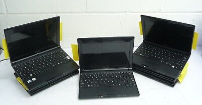 Job Lot of 7 x Laptop Netbooks Toshiba NB500-11D Atom 1.66Ghz *Spare/Repairs*