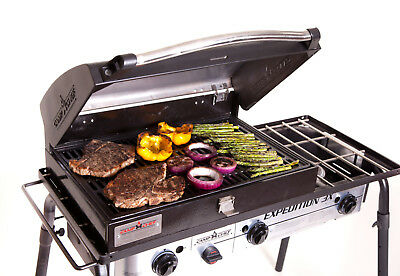 Camp Chef 3-Burner Barbecue Box with Hinged Lid with Thermometer Top Quality
