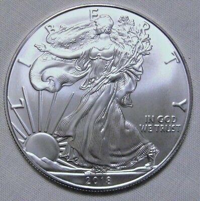 2018 1oz American Silver Eagle GEM BU $1 Coin 1 Troy Ounce.999 Silver Free Ship