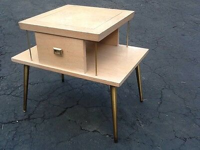 Vintage Lane Co. 2 Tier Mid Century End Table - Style No. 702 - Good.