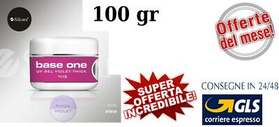 GEL UV BASE ONE VIOLET THICK 100gr  MADE IN ITALY SILCARE OFFERTA DEL MESE