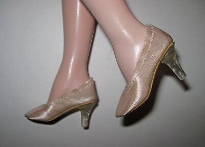 Madame Alexander Cissy Doll High Heel Shoes Close Toe Pumps Clear Heels