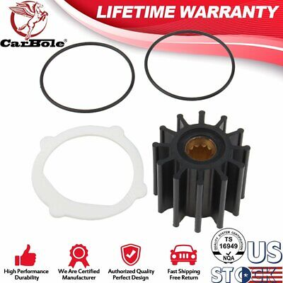 Raw Sea Water Pump Impeller Repair Kit Replaces for Yanmar 119773-42600 Neoprene