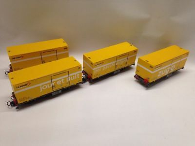 Bemo 7469101 | RhB 4er-Wagenset post Container Spur H0m