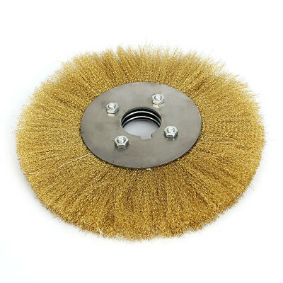 10'' Soft Copper Wire Wheel Brush 32mm Bore For Derusting Polishing Grinding