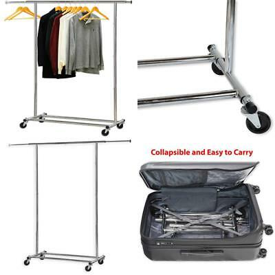 Clothing Garment Rack Simple Houseware Commercial Grade Chrome Heavy Duty Sturdy