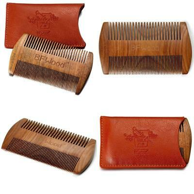 Best Choise Leather Case ,Pocket Beard Comb – Sandalwood Comb With Leather Case