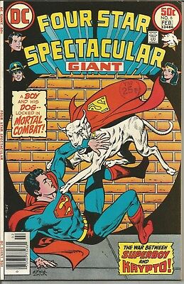 FOUR STAR SPECTACULAR Giant - No. 6 (February 1977) ~ features WONDER WOMAN