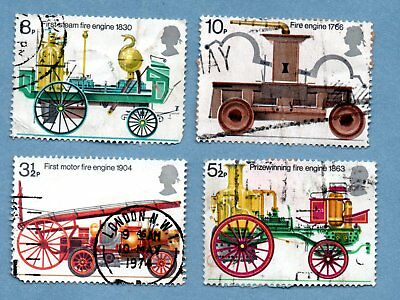 GB/UK stamps 1974 Fire Engines SG950-53 (4 stamps)