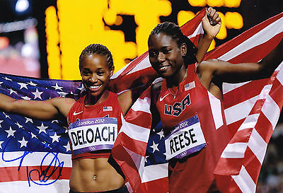 JANAY DELOACH - USA - 3. OS 2012 SIGNED IN PERSON AUTOGRAMM AUTOGRAPH 20x29,5 CM