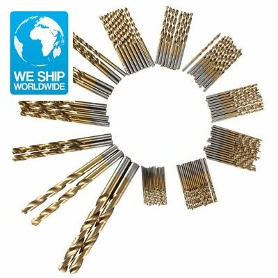 MainPoint 99pc Titanium Coated HSS Drill Bits 1.5mm-10mm Stainless Steel HSS Hig