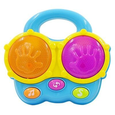 Baby Musical Drum Toddler Colourful Music Toy Educational Kids Play Child Lights