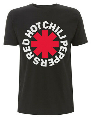 Red Hot Chili Peppers 'Classic Asterisk' (Black) T-Shirt - NEW & OFFICIAL!
