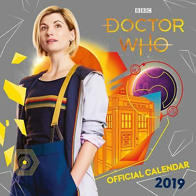 Official 2019 Doctor Who Calendar Square TV Dr Gift Present Wall Hanging
