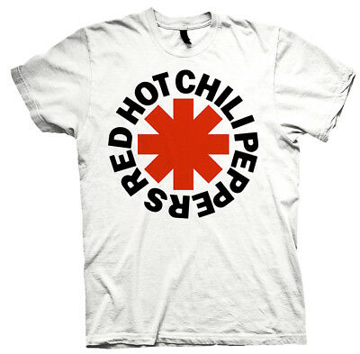 Red Hot Chili Peppers 'Classic Asterisk' (White) T-Shirt - NEW & OFFICIAL!