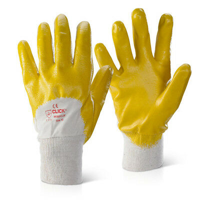 10 x Click 2000 Flex BF1 Nitrile PU Mix Coated Breathable Safety Gloves Size XL