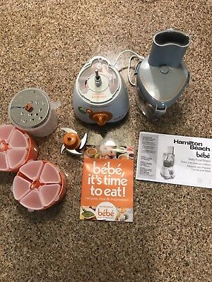 Hamilton Beach Baby Food Maker 36533 Bebe  5 Cup Food Processor