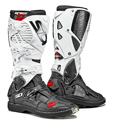 Sidi Crossfire 3 Motocross Boots - Black / White SIZE EU 47 UK 12 FREE SHIPPING