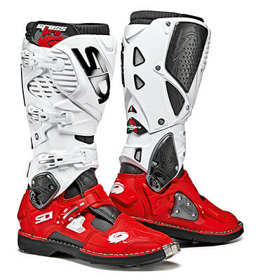 Sidi Crossfire 3 Motocross Boots - Red / White SIZE EU 47 UK 12 FREE SHIPPING