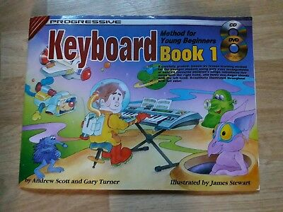 Progressive Keyboard Method For Young Beginners Book 1 Music Book, DVD & CD