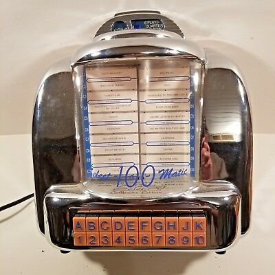 Vintage~Crosley CR-9 SELECT-O-MATIC 100~Diner Jukebox Radio Cassette Tape Player