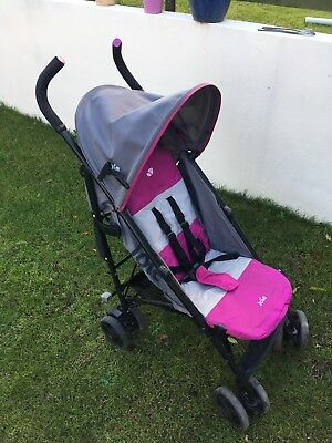 Joie Nitro Charcoal Pink Pushchairs Single Seat Stroller
