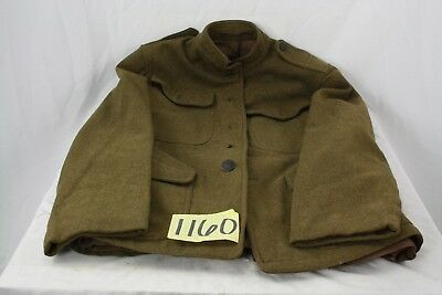Ww1 Us Wool Jacket Missing 3 Buttons