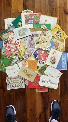 Lot of 50 + Vintage Xmas Christmas Holiday Greeting Cards