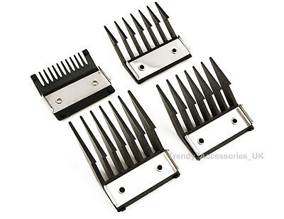 4 Attachment Comb Set With Metal Backed Cutting Guide 3mm 6mm 9mm 12mm for clip