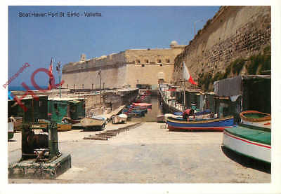 Picture Postcard~ Malta, Valletta, Boat Haven, Fort St. Elmo