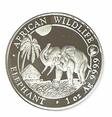 2017 Somali Republic 100 Shillings African WildLife Elephant 1 oz Silver